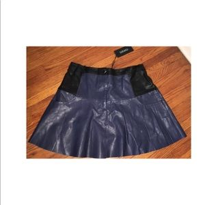 NEW Nasty Gal Vegan Leather Skirt, Size Small